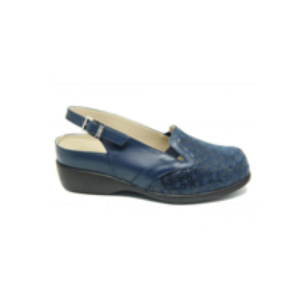 zapato mujer abierto azul