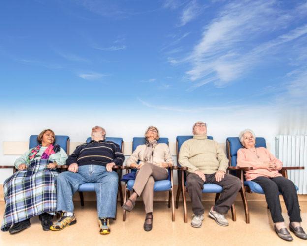 Aire seguro en geriátrico